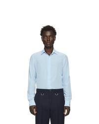 Chemise à manches longues en soie bleu clair Valentino