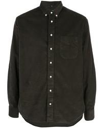 Chemise à manches longues en velours côtelé vert foncé Gitman Vintage