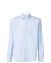 Chemise à manches longues en vichy bleu clair Etro