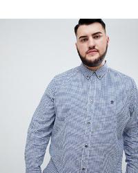 Chemise à manches longues en vichy bleu clair French Connection