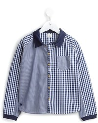 Chemise à manches longues en vichy bleue No Added Sugar
