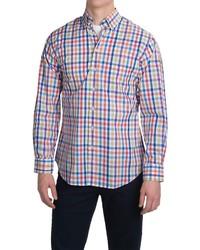 Chemise à manches longues en vichy multicolore