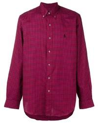 Chemise à manches longues en vichy pourpre Polo Ralph Lauren