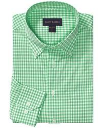 Chemise à manches longues en vichy verte