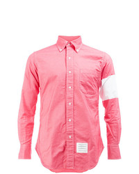 Chemise à manches longues fuchsia Thom Browne