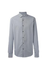 Chemise à manches longues géométrique blanche Salvatore Ferragamo
