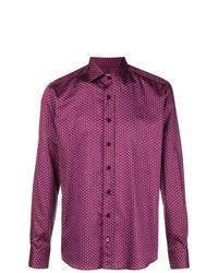Chemise à manches longues géométrique fuchsia Etro