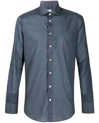 Chemise à manches longues géométrique violette Etro