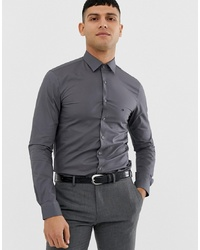 Chemise à manches longues gris foncé Calvin Klein