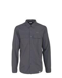 Chemise à manches longues gris foncé