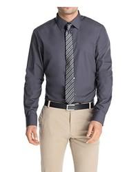 Chemise à manches longues gris foncé Esprit