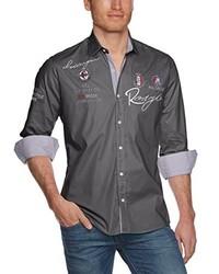 Chemise à manches longues gris foncé Redbridge