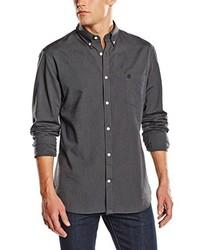 Chemise à manches longues gris foncé Selected