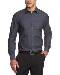 Chemise à manches longues gris foncé Venti