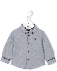 Chemise à manches longues grise Armani Junior