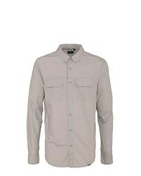 Chemise à manches longues grise