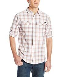 Chemise à manches longues grise Columbia