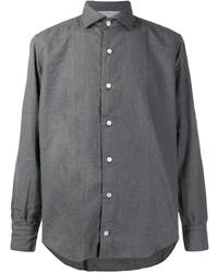 Chemise à manches longues grise Eleventy