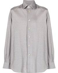 Chemise à manches longues grise Kiton