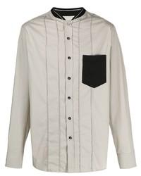 Chemise à manches longues grise Lanvin