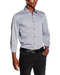 Chemise à manches longues grise Selected
