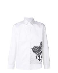Chemise à manches longues imprimée blanche et noire Calvin Klein Jeans