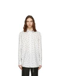 Chemise à manches longues imprimée blanche Valentino