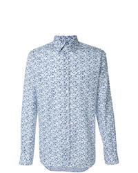 Chemise à manches longues imprimée bleu clair