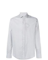Chemise à manches longues imprimée bleu clair Etro