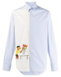 Chemise à manches longues imprimée bleu clair Lanvin