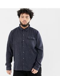 Chemise à manches longues imprimée bleu marine Another Influence