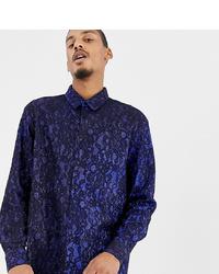 Chemise à manches longues imprimée bleu marine Milk It
