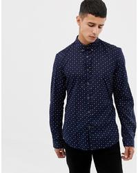 Chemise à manches longues imprimée bleu marine Tom Tailor