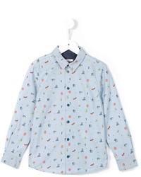 Chemise à manches longues imprimée bleue claire Paul Smith