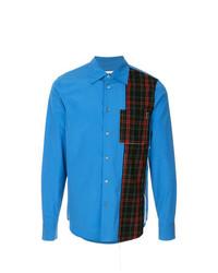 Chemise à manches longues imprimée bleue Marni