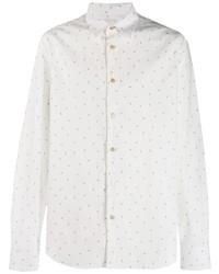 Chemise à manches longues imprimée cachemire blanche Paul Smith