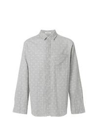 Chemise à manches longues imprimée cachemire grise Engineered Garments