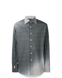 Chemise à manches longues imprimée gris foncé Billionaire