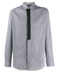 Chemise à manches longues imprimée grise Emporio Armani