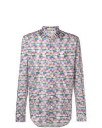 Chemise à manches longues imprimée multicolore Etro
