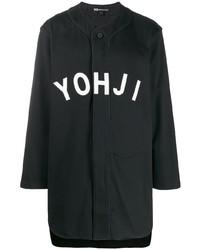 Chemise à manches longues imprimée noire et blanche Y-3