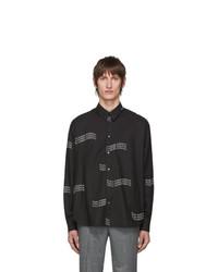 Chemise à manches longues imprimée noire Givenchy
