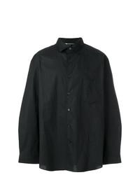 Chemise à manches longues imprimée noire Y-3