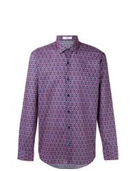 Chemise à manches longues imprimée violette Fashion Clinic Timeless