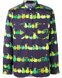 Chemise à manches longues imprimée violette Junya Watanabe MAN
