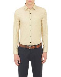 Chemise à manches longues jaune