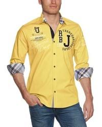 Chemise à manches longues jaune Redbridge