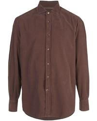 Chemise à manches longues marron Brunello Cucinelli