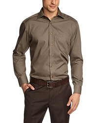 Chemise à manches longues marron Casamoda