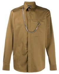 Chemise à manches longues marron Just Cavalli